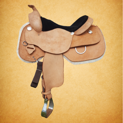 Western Rough Out Saddle